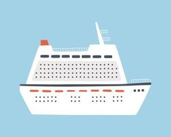 A large sea cruise ship. Travel on an ocean liner vector