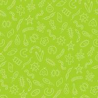 Germs, virus, bacterias and pathogen Seamless vector pattern
