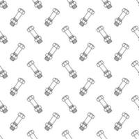 Texture with screws, bolds and nuts in doodle style. seamless pattern vector