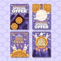 Mid Autumn Festival Marketing Card vector