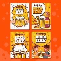 tarjeta del día de la cerveza vector