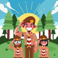 Salute from Pramuka Boyscout vector