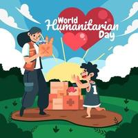 World Humanitarian Day with Kids vector