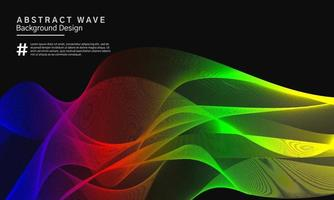Colorful abstract wavy line background design vector