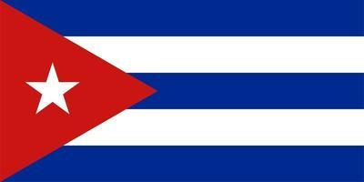 Cuban Flag of Cuba vector