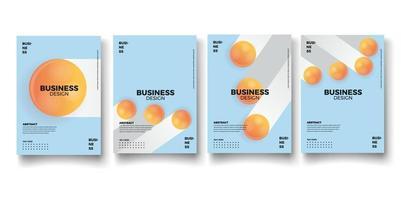 Set of brochure, annual report, flyer design templates. vector