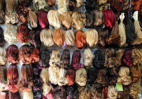 Toupee Imitation Hair Fashion Beauty Concept photo