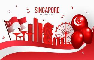 Celebrating Singaporean National Day vector