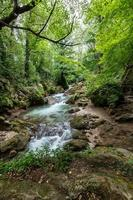 bleck river dopo waterfall of marble photo