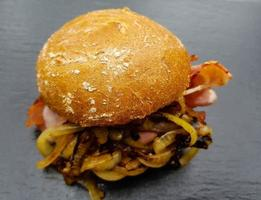 Baconburger - grilled Burgundy Bacon and roasted onions photo