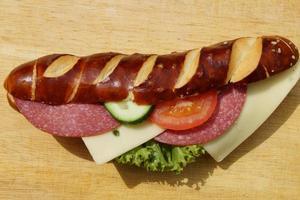 Lye roll as a fast snack photo