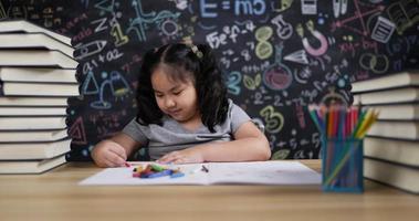 Girl Enjoy Art in Classroom video
