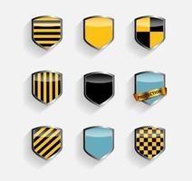 Protect Shield Set Vector Illustration