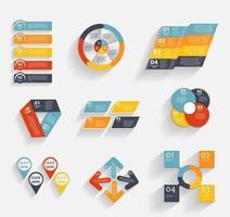 colección de plantillas de infografía para ilustración de vector de negocios