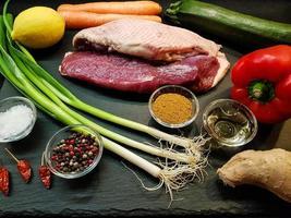 ingredientes para cocinar curry foto