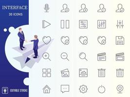Outline Interface and Ui Icon Set vector
