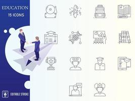 Outline School and Education vector