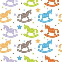 colorful horse pattern with star shape vector