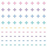 colorful plus and minus pattern vector