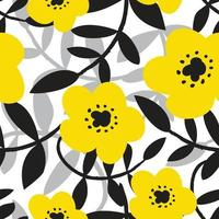 cute yellow flower pattern for fabric vector