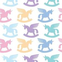 colorful unicorn pattern for fabric vector