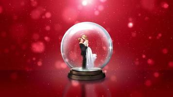globo de nieve de la novia y el novio video