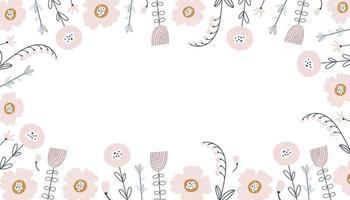 patrón floral con flores y hojas. vector