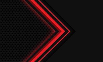 Abstract grey red light arrow circle mesh vector
