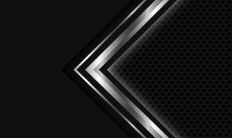 Abstract silver grey light arrow circle mesh vector