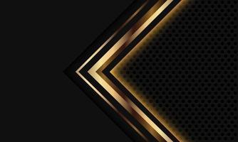 Abstract gold grey light arrow circle mesh vector