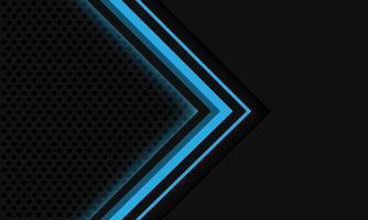 Abstract grey blue light arrow circle mesh vector