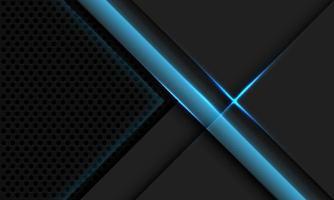 Abstract grey metallic overlap blue light circle mesh vector