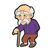 old man cartoon illustration vector