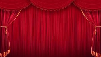 rood toneelgordijn theater video