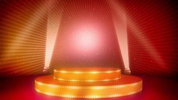 palco vazio em holofotes video