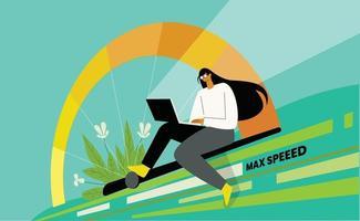 Fast internet speed illustration vector concept