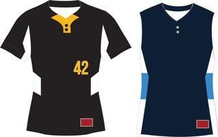 Two Button Pullover Sleeveless Jersey vector
