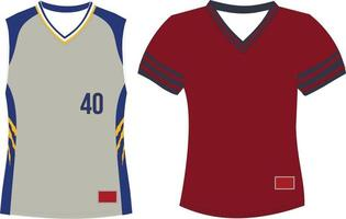 Pullover V Neck Jersey With Set In sleeves vector