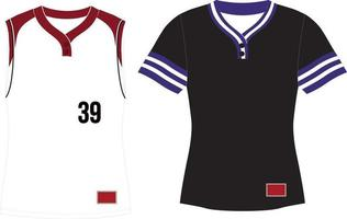 Two Button Pullover Jersey With Set In Sleeves vector