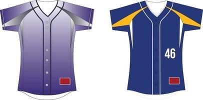 Sublimated Full Button Jersey With Inserts vector