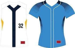 Full Button Softball Jersey Raglan Sleeves vector