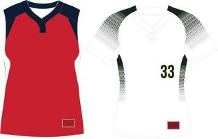 Two Button Pullover Jersey Raglan Sleeves vector