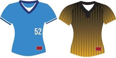 Softball V Neck Jersey vector