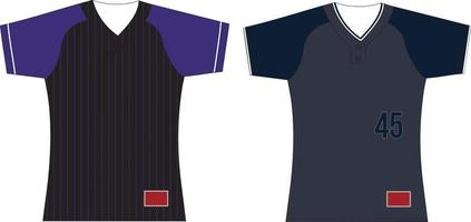 Sublimated Two Button Jersey vector