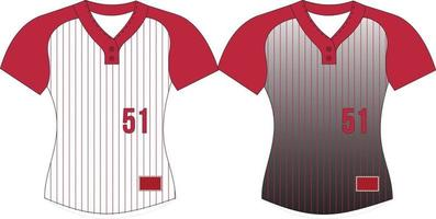 Softball Two Button Jersey vector