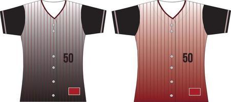Softball Full Button Jersey vector
