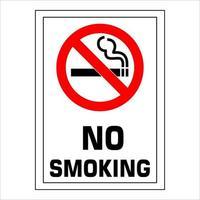NO SMOKING prohibition forbidden sign vector illustration.