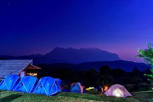 Tourist tent on the hill at San Pa Kia in Chiang mai, Thailand photo