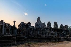 Bayon Temple in Angkor Thom, Siem Reap, Cambodia. photo