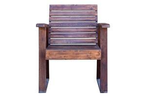 silla de madera aislada sobre fondo blanco. foto